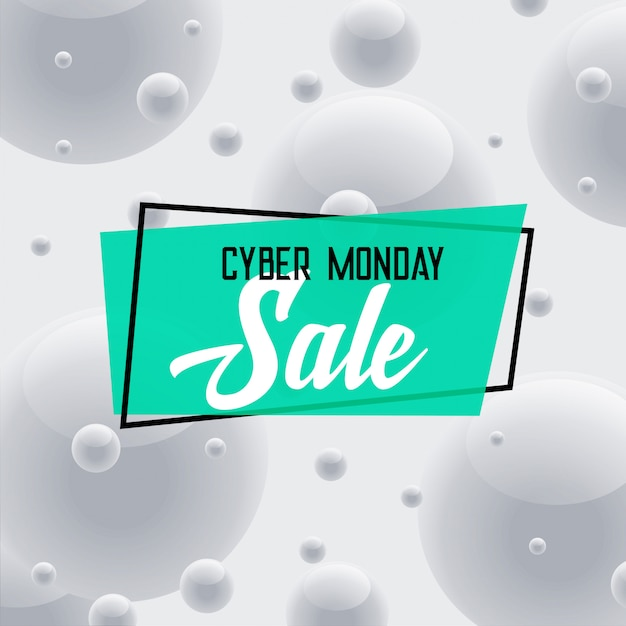 Cyber monday sale gray background Free Vector