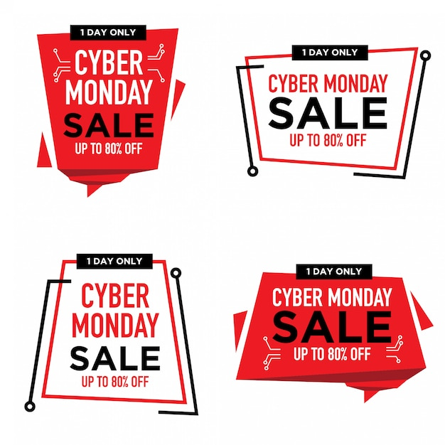Cyber Monday Sale Label Collection