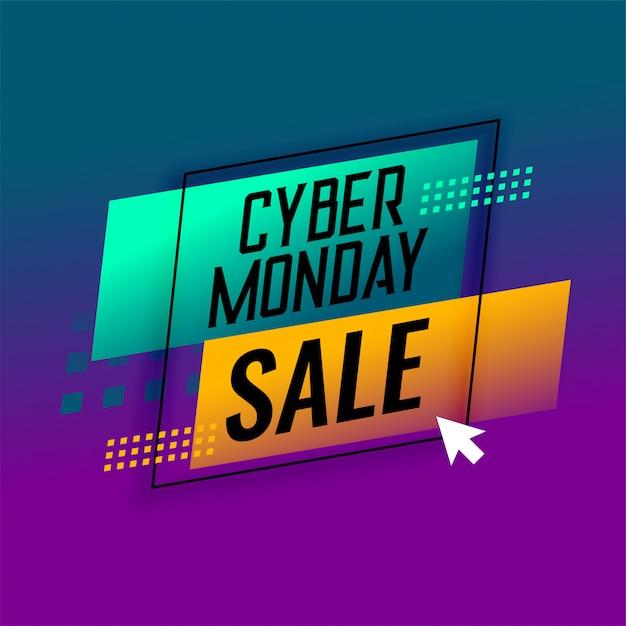 Cyber monday sale modern banner stylish design Free Vector