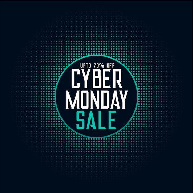 Cyber lunedì vendita offerta sfondo tecnologia digitale Vettore gratuito