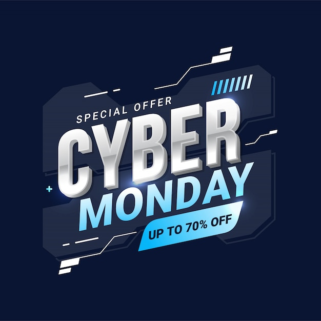 Cyber monday sale for promotion Premium Vector