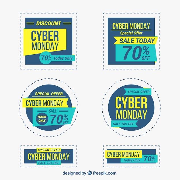 Cyber Monday Sales Labels