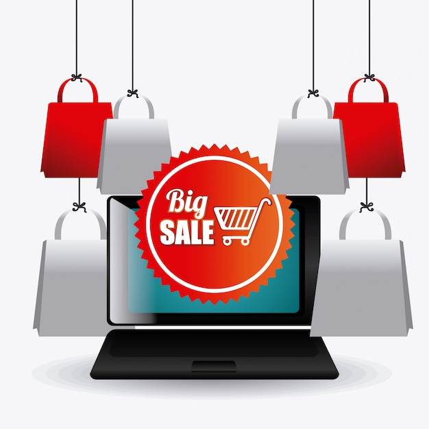 Cyber monday shopping season Free Vector