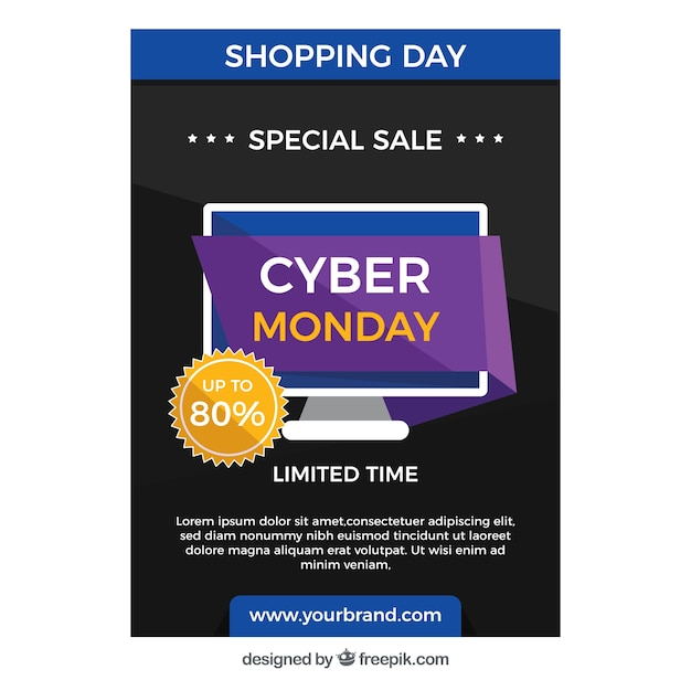 Cyber monday special discount brochure