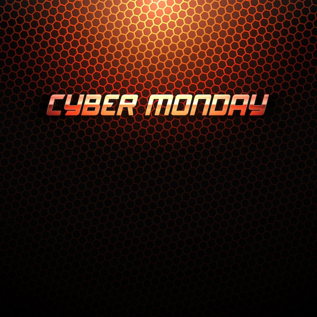 Cyber monday tech background Premium векторы