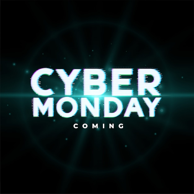 Cyber monday upcoming sale event banner design Free Vector