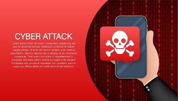Cyber security concept. cyber security concept. virus protection Premium Vector