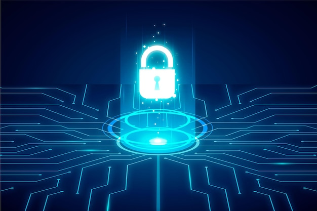 Cyber security concept Free Vector