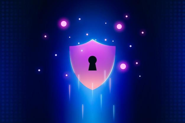 Progettazione della sicurezza informatica Vettore gratuito