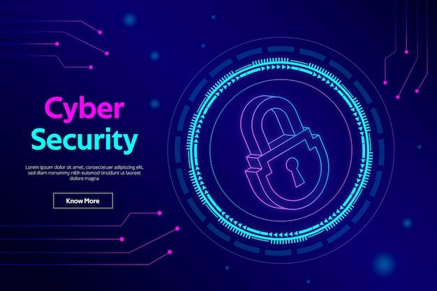 Иллюстрация кибербезопасности Premium векторы
