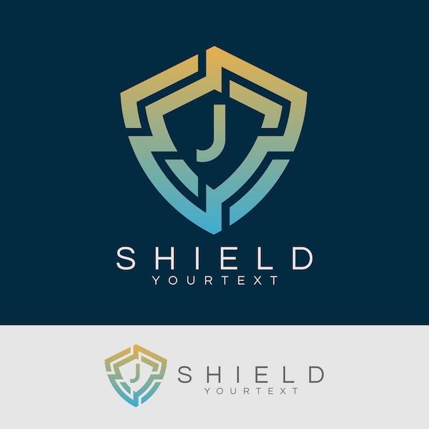 Cyber security initial letter j logo design Premium Vector