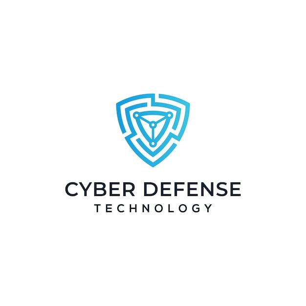サイバーセキュリティのロゴデザイン Premiumベクター