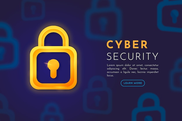 Стиль кибербезопасности Premium векторы