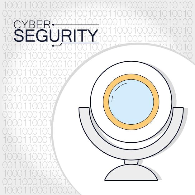 Cyber security webcam technology Premium Vector