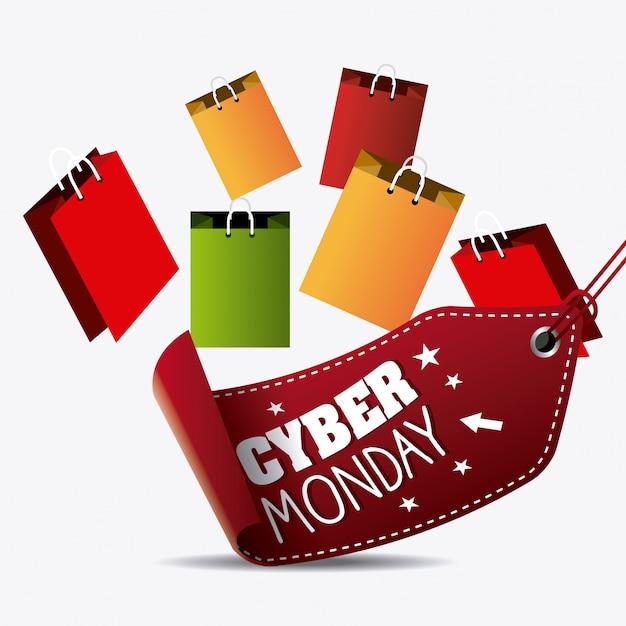 Cyber понедельник торговый сезон Бесплатные векторы