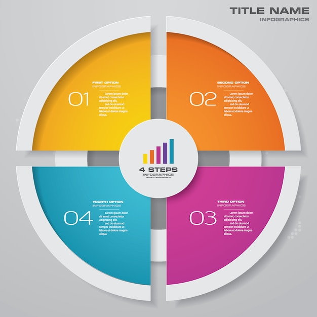 Cycle chart infographic for data presentation Premium Vector