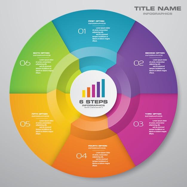 Cycle chart infographics elements. Premium Vector