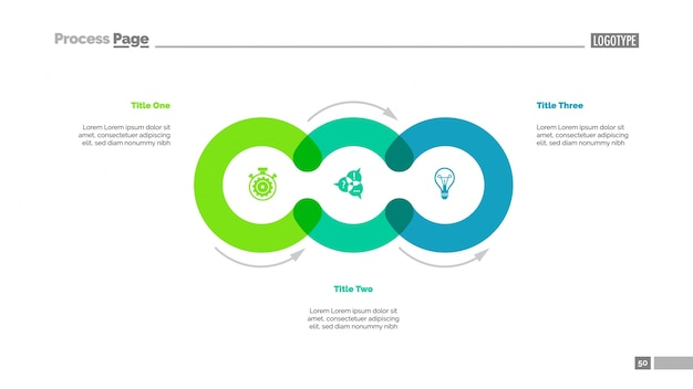 Cycle diagram with three elements Free Vector
