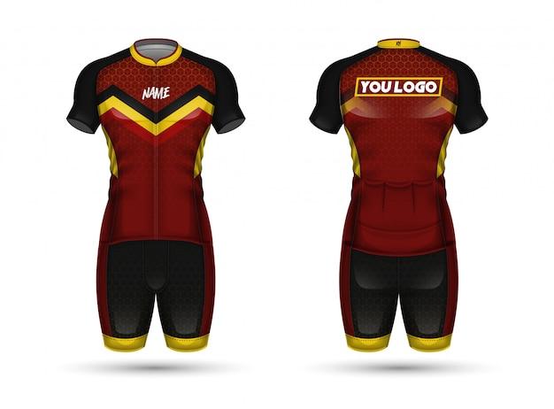 Cycle jersey shirt design Premium Vector