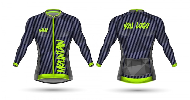 Cycle jersey shirt design Premium Vector
