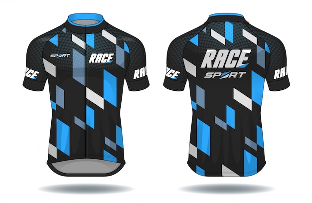 Cycle jersey.sport wear protection equipment vector illustration. Premium Vector