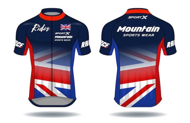 Cycle jersey Premium Vector