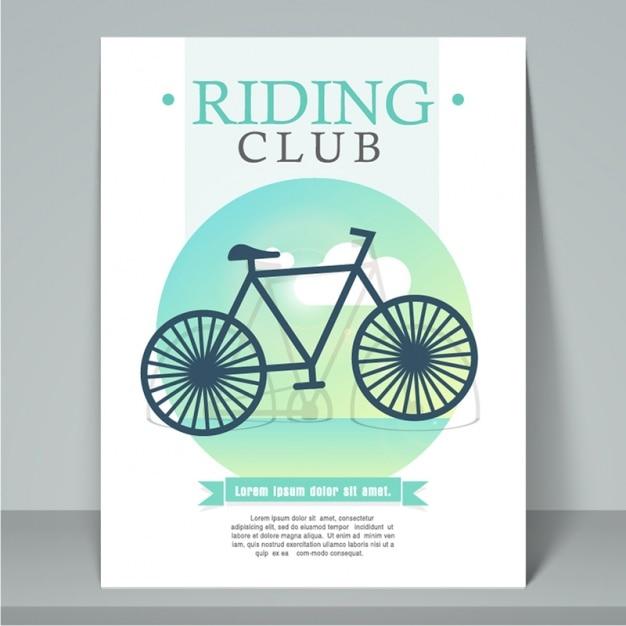 サイクリングクラブのパンフレットテンプレート Premiumベクター