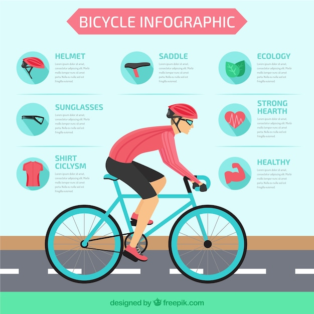 Cycling infographic Vector | Free Download