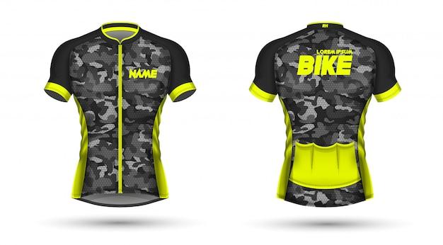 Cycling jersey template Vector  bbefa22d0