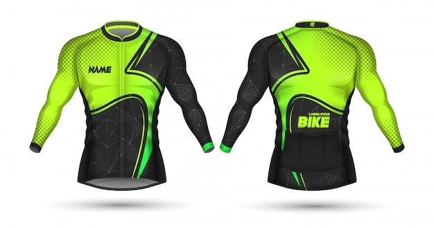 Cycling jersey template Premium Vector