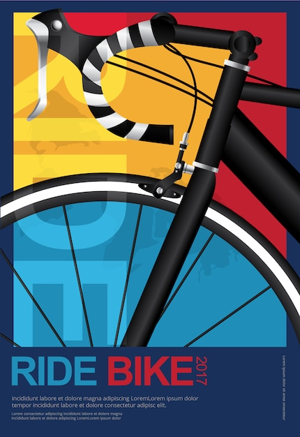 Cycling poster design template vector illustration Premium Vector