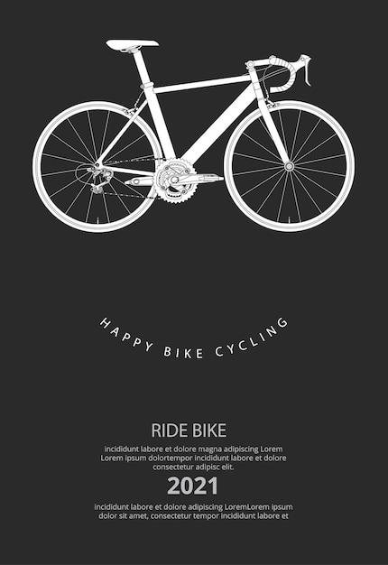 Велоспорт плакат иллюстрация Бесплатные векторы