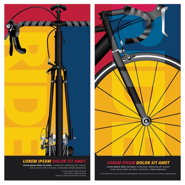Cycling poster illustration Premium Vector