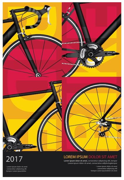 Cycling poster vector illustration Premium Vector