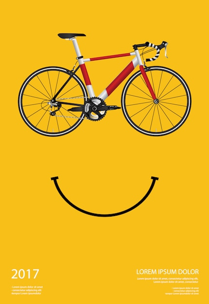 Cycling poster vector illustration Premium Vector