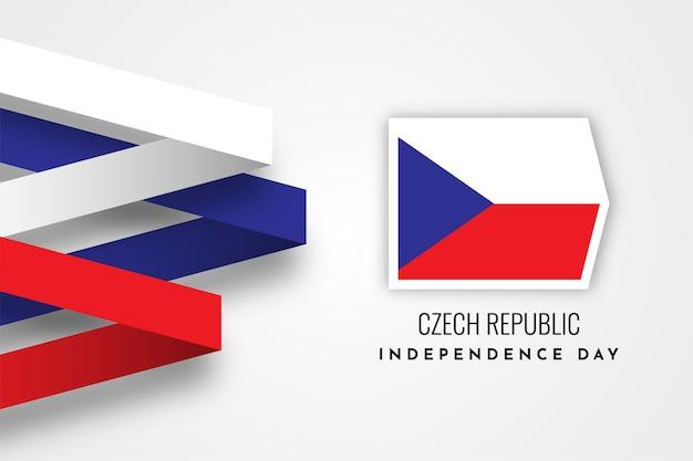 Празднование дня независимости чехии Premium векторы
