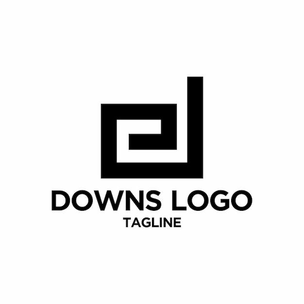 Логотип d Premium векторы