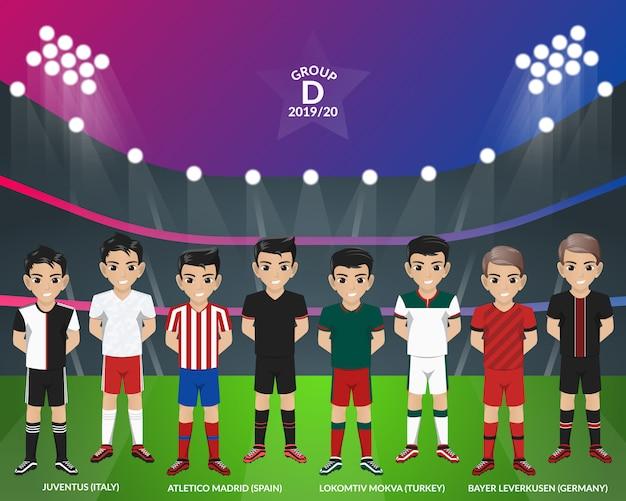 Футбол футбол комплект от чемпионата европы группа d Premium векторы