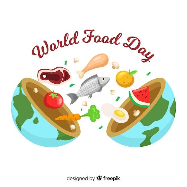 手描きの世界の食べ物da 無料ベクター