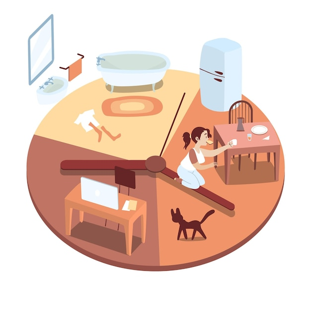 Daily activitiestime management concept Free Vector