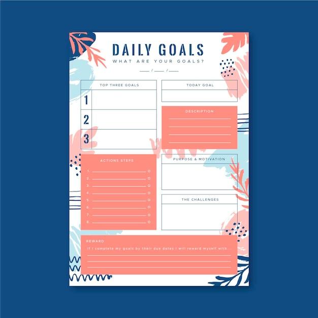 Ежедневные цели Бесплатные векторы