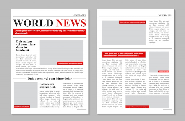 Daily newspaper journal, business promotional news Premium Vector
