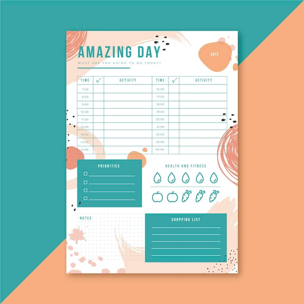Daily planner Free Vector