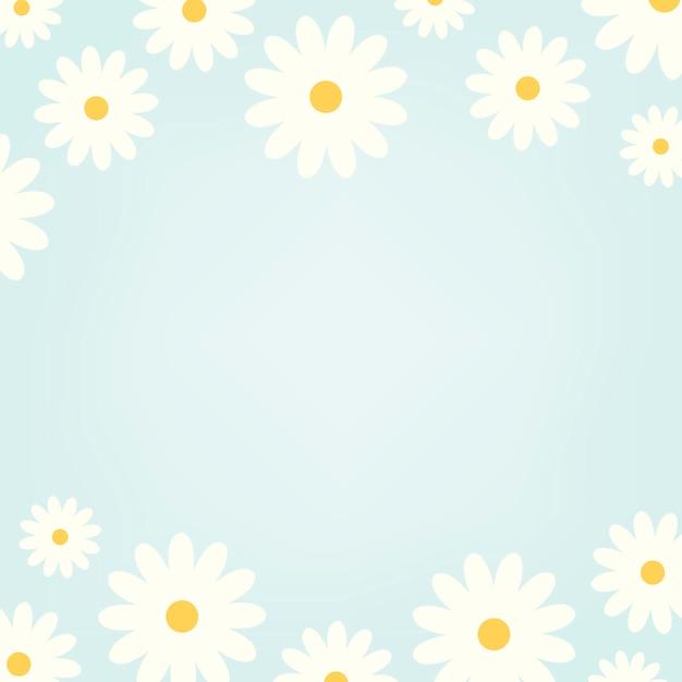 Daisy pattern Free Vector