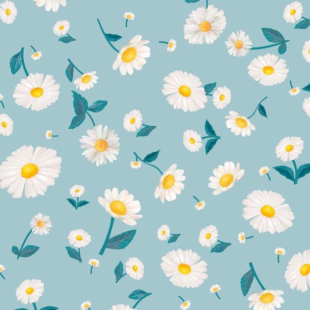 Daisy patterned wallpaper Free Vector