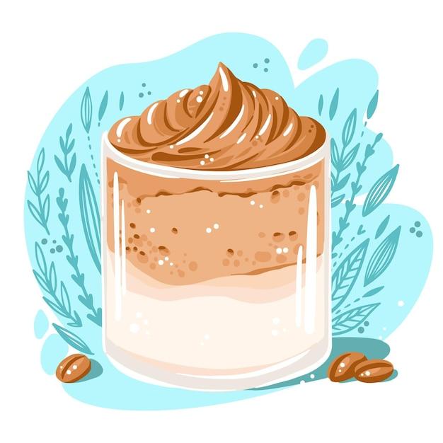 Дальгона кофейная иллюстрация Бесплатные векторы