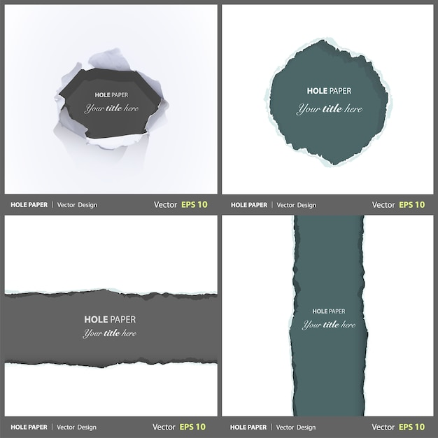 Damage collection edge sheet set Free Vector