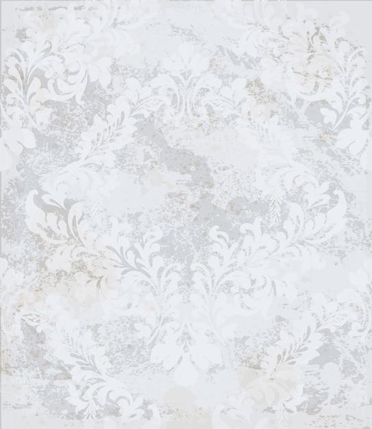 Damask ornament background Premium Vector