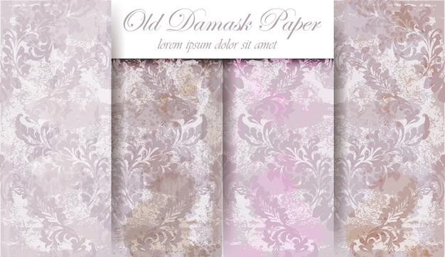 Damask ornament pattern Premium Vector