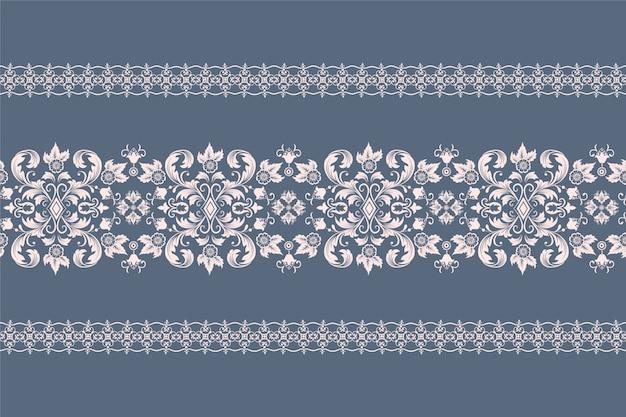 Damask pattern border Free Vector